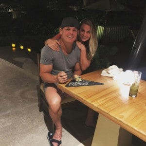 Tennil on holiday with her husband