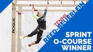 Tennil Reed winner of the o-course event at the CrossFit games