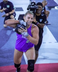 Tennil competing at the CrossFit Games
