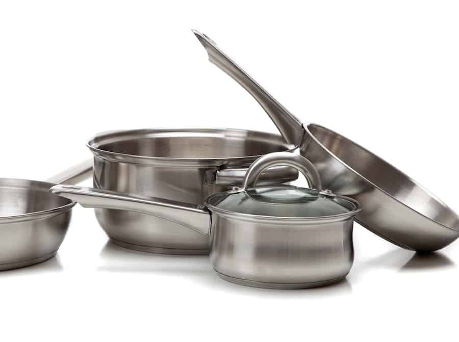Stainless Steel Pan set for food prep