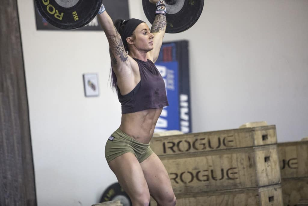 OPEX Sponsored Athlete Rachel Campbell lifting a heavy barbell