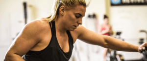 Tennil Reed's AM is a speed strength session designed to help her improve her knee flexion endurance for the sport of CrossFit®. Following this she will tackle a grinder piece which will involve heavy double unders.