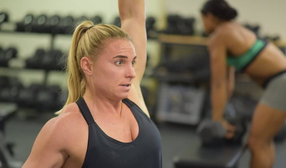 Tennil reed is currently training and preparing for the CrossFit Open.