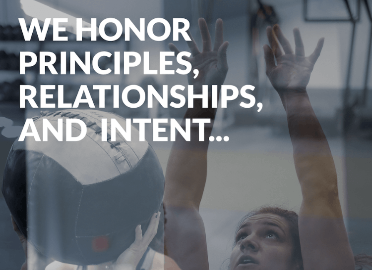 functional fitness athlete principles, relationships, intent