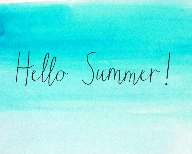 Setting Summer Goals