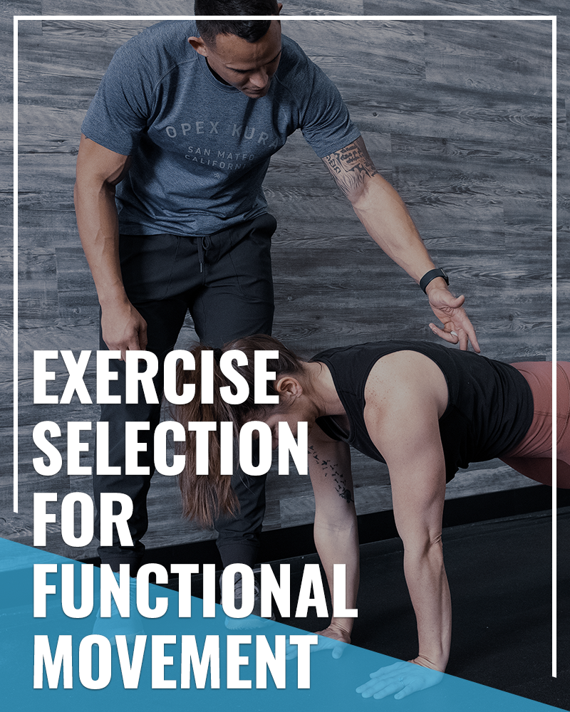 Exercise Selection for Functional Movement Patterns